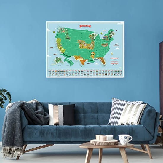 Scratch Map® USA Landmarks Poster