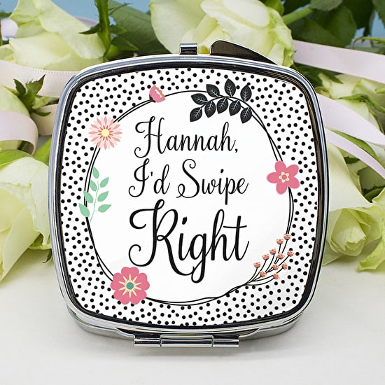 Personalised Romantic Compact Mirror