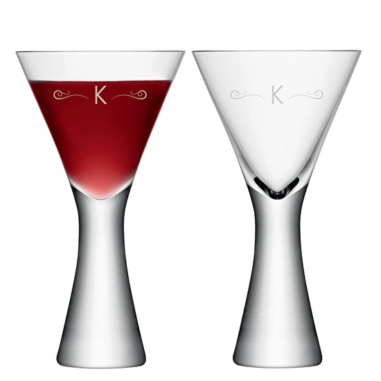 Two Monogrammed LSA Wine Glasses