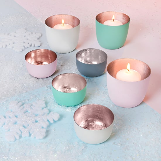Pastel And Rose Gold Votive Holders