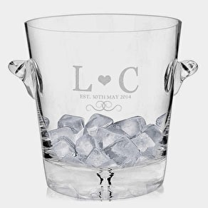 Glass Monogram Ice Bucket