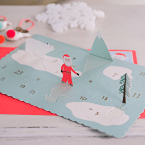 Pop Up Advent Calendar Christmas Card