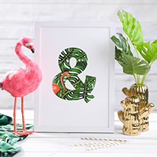Tropical Letter Print