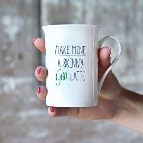 Personalised 'Gin Latte' Mug Gift