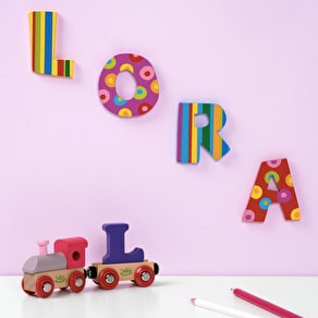 Stripes & Spots Wooden Alphabet Letters