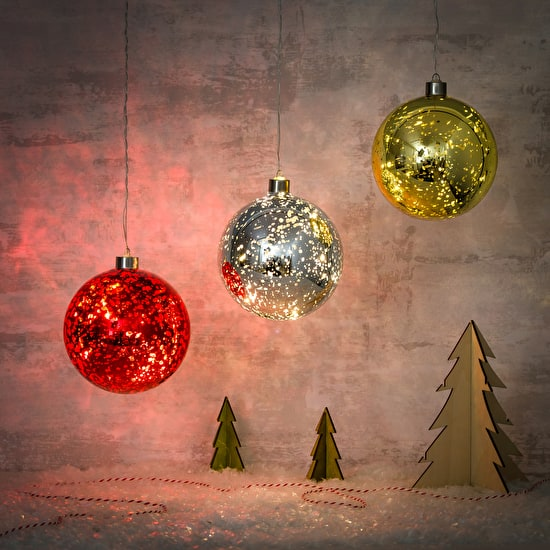 Light Up LED Hanging Baubles
