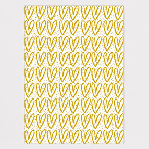 Gold Hearts Glitter Wrapping Paper