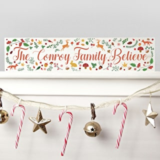 Personalised Christmas Family Mantle Decoration