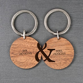 Wooden Key Ring Zodiac Sign And Name