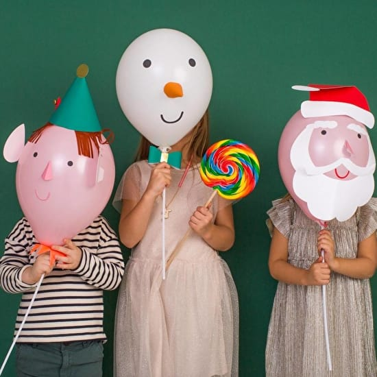 Christmas Balloons With Wands