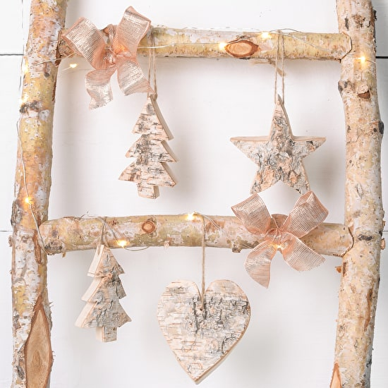 Rustic Wooden Hanging Tree Decorations