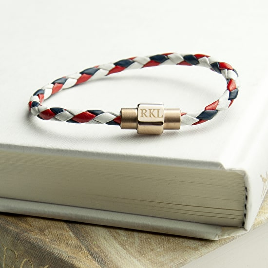 Men's Nautical Leather Bracelet