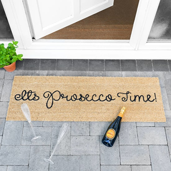'It's Prosecco Time' Patio Door Mat