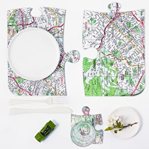 Personalised Postcode Map Coaster