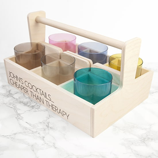Personalised Trug & Ombre Cocktail Glasses
