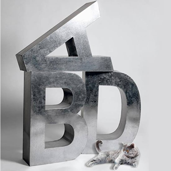 Industrial Metal 'Super Large' Letters