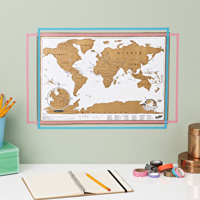 Framed Scratch Map® Deluxe