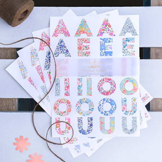 Liberty Print Alphabet Stickers