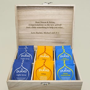 Personalised 'My Favourite Brews' Tea Box