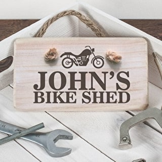 Personalised Wooden Bike Shed Sign
