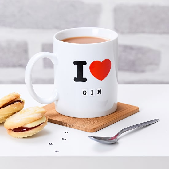 Ceramic 'I Love' Mug With Stickers