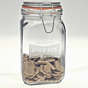 Personalised Dog Treat Kilner Jar