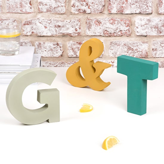 Freestanding 'G & T' Wooden Letters