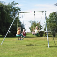 TP Double Giant Swing Frame with Deluxe Swing Seats and Skyride