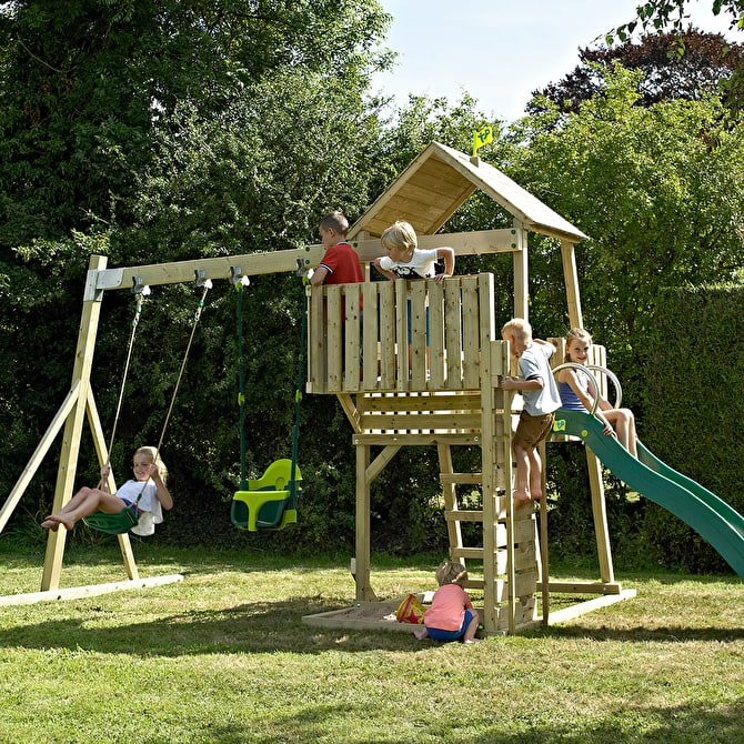TP Kingswood2 Tower with slide, swing arm and swing accessories